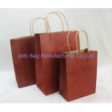 Customized ECO friendly craft paper bags with handles wholesale